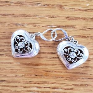 Brighton heart lever back dangle earrings